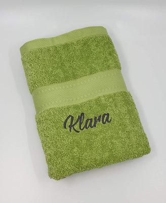 Handdoek geborduurd