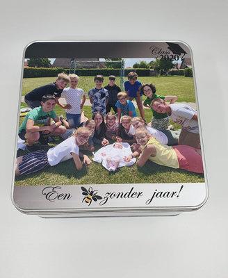 Blikken doos met foto